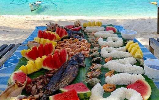 Platter table full of foods puzzle