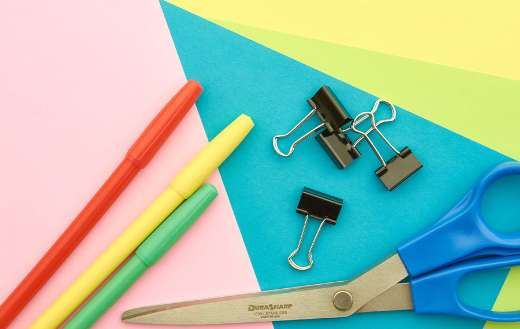 Colorful office supplies online