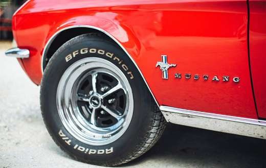 Mustang brown and gray steering wheel