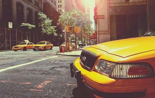 New York wallpaper taxi