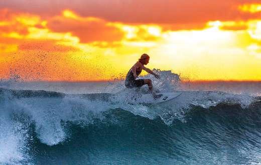 Public domain surfing image