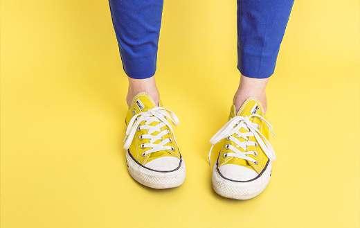 Yellow sneakers online