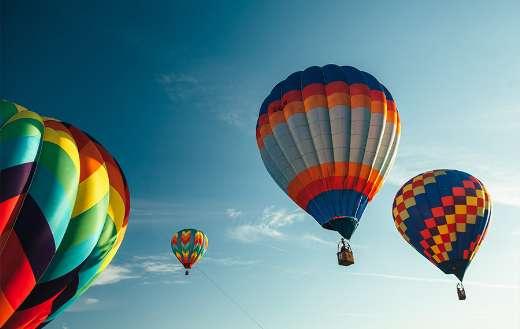 Hot air balloon flight puzzle