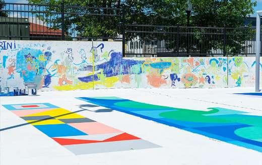 Park colorful graffiti