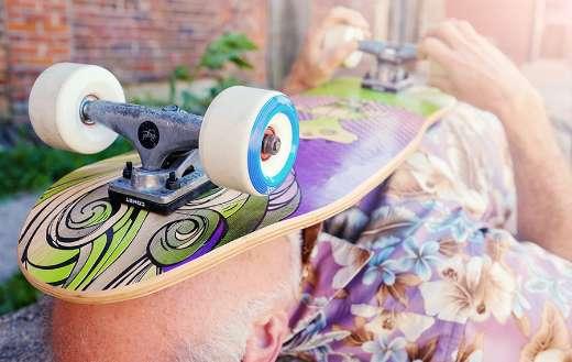 Skateboard wheel puzzle