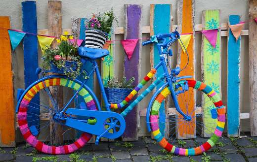 colorful bike wheel puzzle