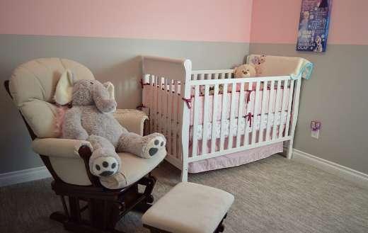 Nursery crib in chair