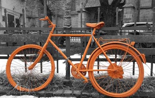 Old vintage orange bike online