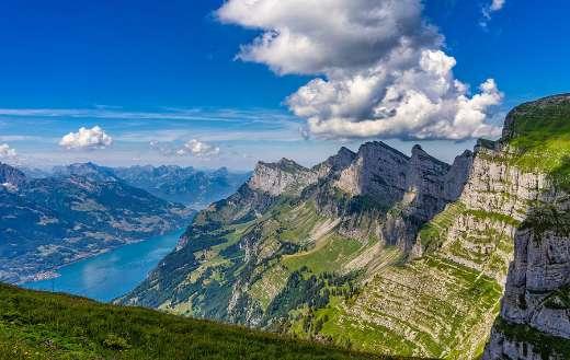 Alpine Chaserrugg churfirsten mountain puzzle