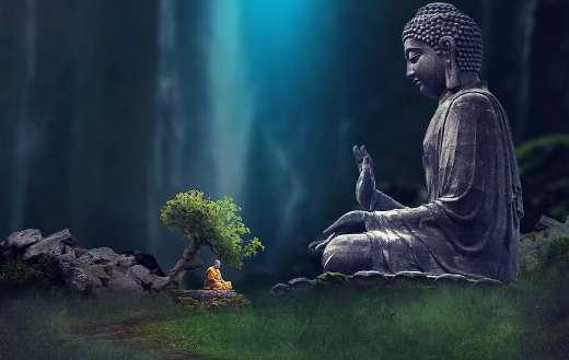 Asia buddha monk mediation online