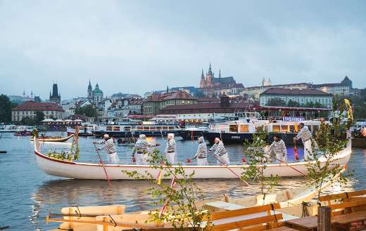 Boat festival river rowing-Prague