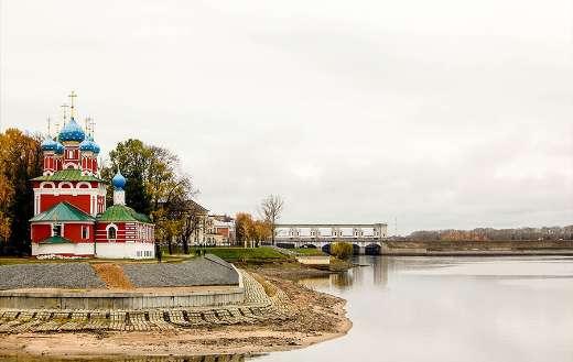 Church architecture river landscape
