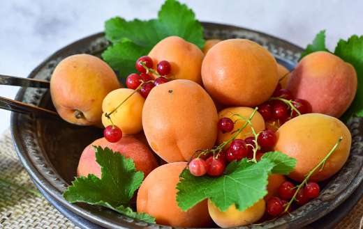 Apricots red currants fruits puzzle