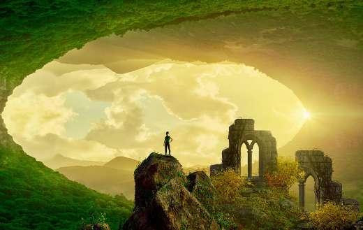 Cave landscape fantasy sky mood dream