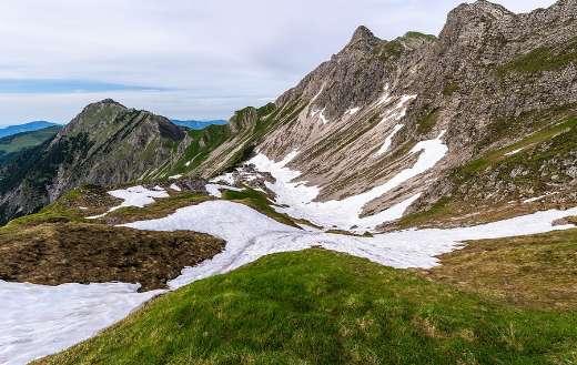 Mountain snow Oberallgau Alpine