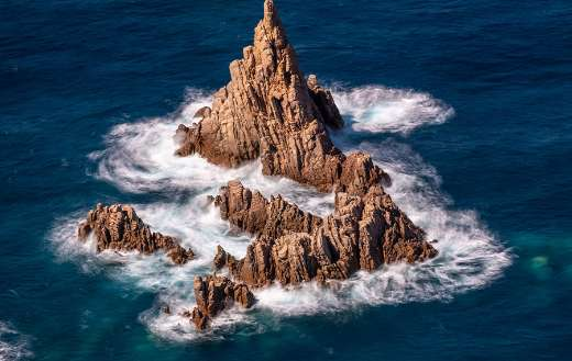 Rocks formation on the sea online