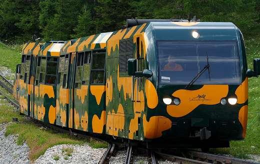 Salamander snow mountain railway train