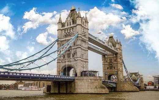 Tower bridge landmark