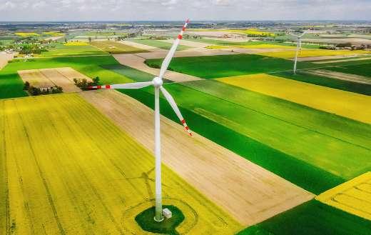 Landscape field windmill online