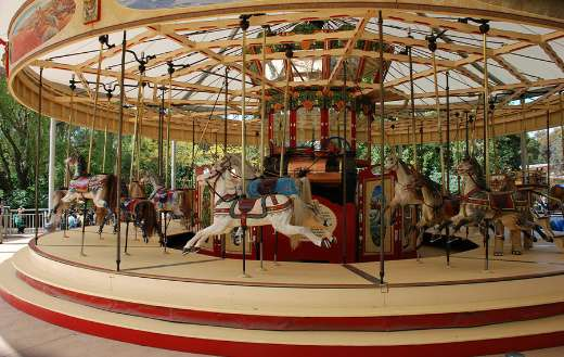 Merry go round carousel puzzle