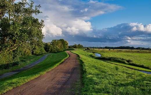 Northern Germany dike path