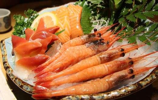 Seafood sashimi shrimp cuisine