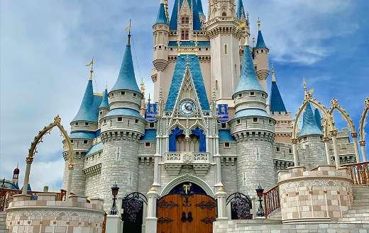 Cinderella Castle at Magic Kingdom in Disneyland Florida