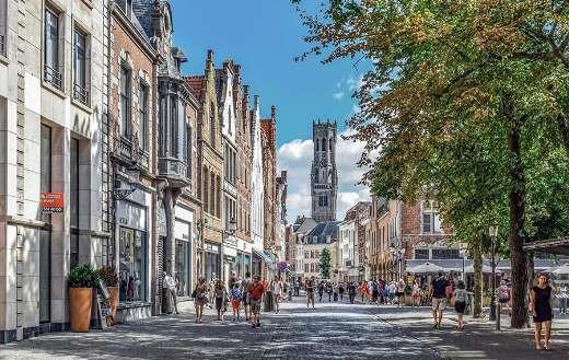 City life Belgium street puzzle