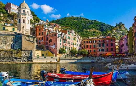 Italy Cinque Terre Mediterranean houses