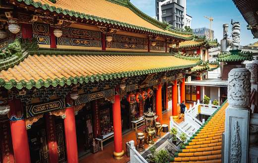 Old traditional Kaohsiung temple Taiwan