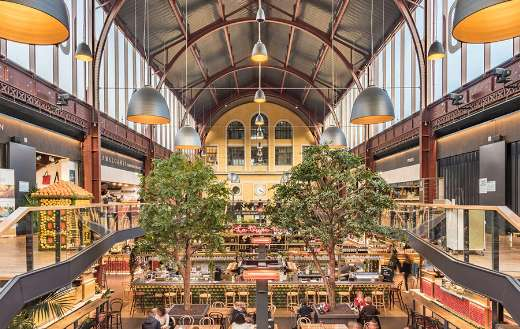 South station covered market shopping halls