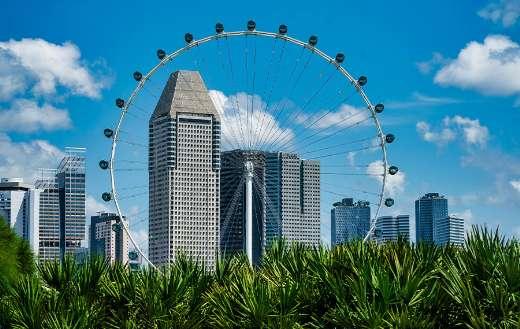 Travel tourism building city ferris wheel